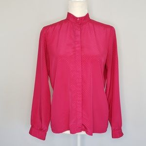 Vintage Miss Sophisticates pink button Top Sz 10